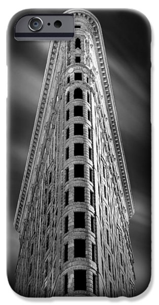 Repetition iPhone Cases - Flatiron Nights iPhone Case by Az Jackson