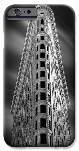 Ornate iPhone Cases - Flatiron Nights iPhone Case by Az Jackson