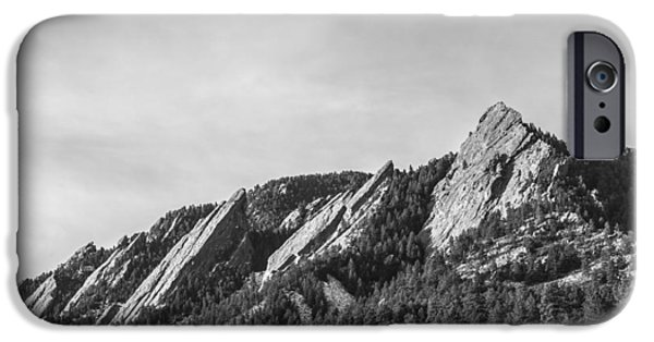 Front Range iPhone Cases - Flatirons B W iPhone Case by Aaron Spong