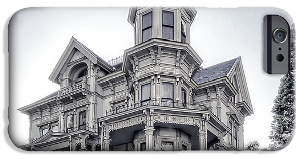 Haunted House iPhone Cases - Flavel Victorian Home iPhone Case by Daniel Hagerman