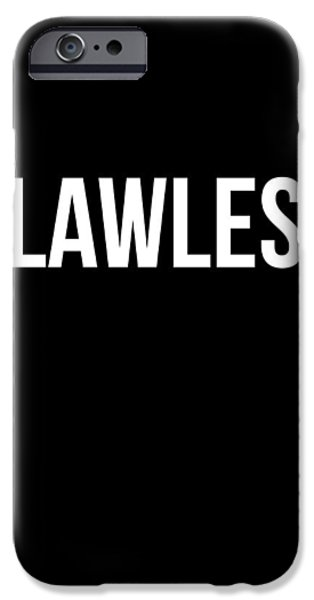 Gig iPhone Cases - Flawless Poster iPhone Case by Naxart Studio