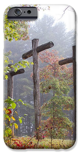 Flax Creek in the Fog iPhone Case by Debra and Dave Vanderlaan