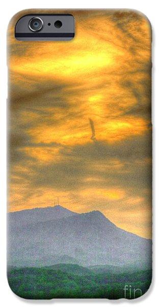 Turbulent Skies Digital Art iPhone Cases - Flaxen Air iPhone Case by Dan Stone