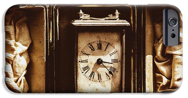 Mechanism iPhone Cases - Flea Market Series - Clock iPhone Case by Marco Oliveira