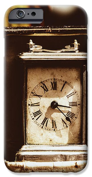 Flea Market Series - Clock iPhone Case by Marco Oliveira
