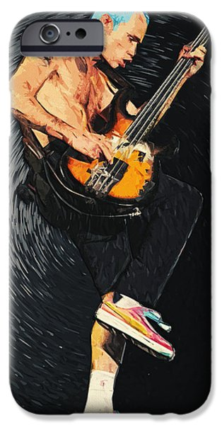 Red Hot Chili Peppers iPhone Cases - Flea iPhone Case by Taylan Soyturk