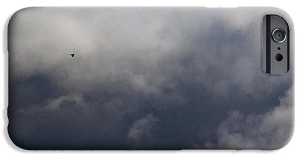 Winter Storm iPhone Cases - Fleeing the Storm   iPhone Case by Lars Lentz