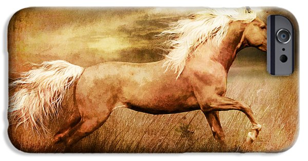 Equine Art iPhone Cases - Fleet iPhone Case by Shanina Conway