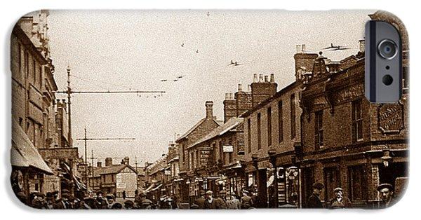Swindon iPhone Cases - Fleet Street Swindon England iPhone Case by The Keasbury-Gordon Photograph Archive