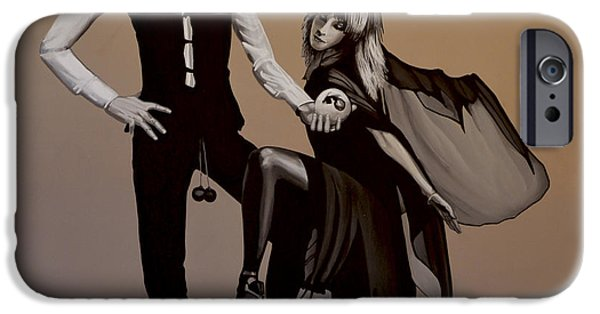 Celebrities Art Paintings iPhone Cases - Fleetwood Mac Rumours iPhone Case by Paul Meijering
