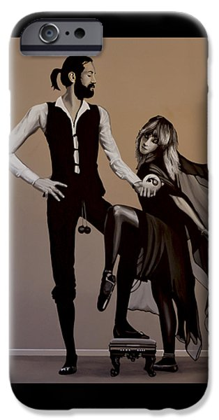 Idol Paintings iPhone Cases - Fleetwood Mac Rumours iPhone Case by Paul Meijering