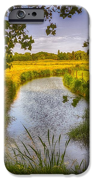 River View iPhone Cases - Flemish Creek iPhone Case by Wim Lanclus