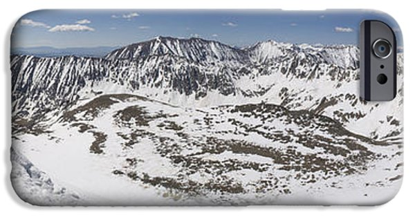 Lincoln iPhone Cases - Fletcher Mountain Summit Panorama iPhone Case by Aaron Spong
