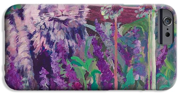 Garden Scene Paintings iPhone Cases - Fletchers Garden iPhone Case by Joan Willoughby