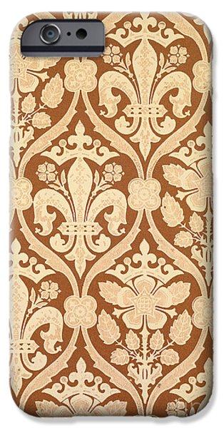 Fleur-de-Lis iPhone Case by Augustus Welby Pugin
