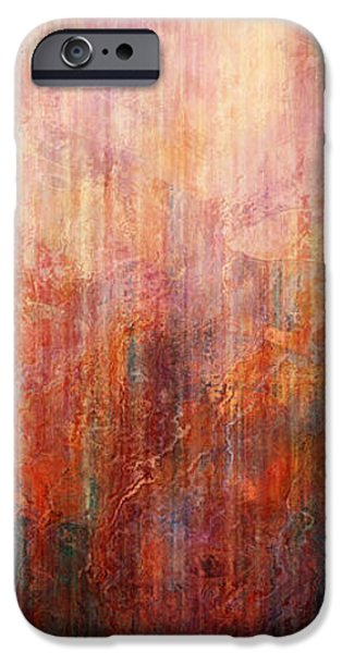Abstract Landscape Digital Art iPhone Cases - Flight Home - Abstract Art iPhone Case by Jaison Cianelli