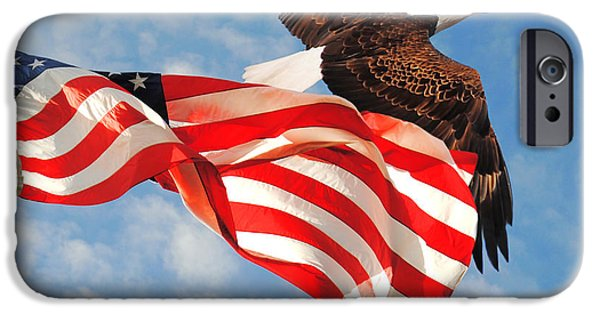 Constitution iPhone Cases - Flight of Freedom iPhone Case by Jai Johnson