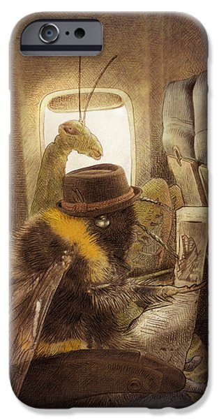 Bee iPhone Cases - Flight of the Bumblebee iPhone Case by Eric Fan