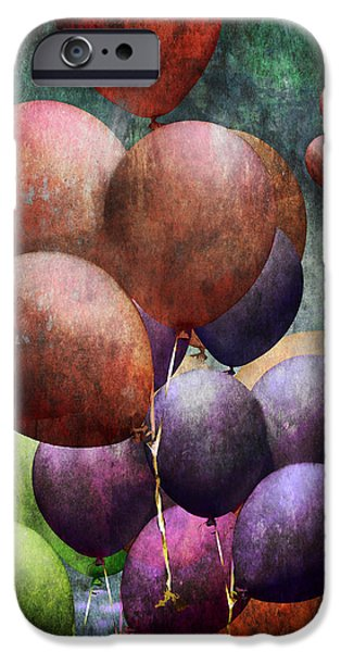 Helium iPhone Cases - Flight of the Helium Balloons iPhone Case by Randall Nyhof