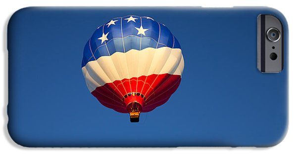 Balloon iPhone Cases - Flight of the Patriot iPhone Case by Mike  Dawson