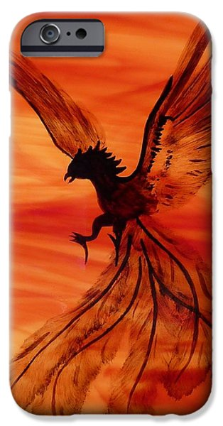 Flight Glass iPhone Cases - Flight of the Phoenix iPhone Case by Samantha  Calder