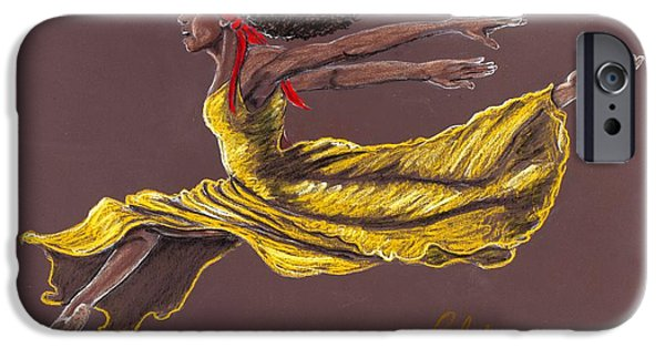 Yellow Pastels iPhone Cases - Flight Time iPhone Case by Charlie Black