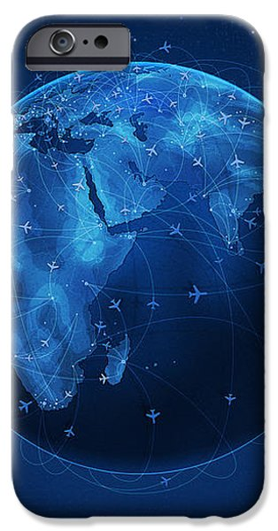 Flights and Earth iPhone Case by Gianfranco Weiss