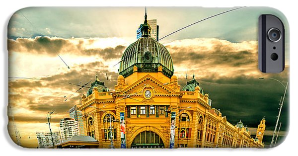 Ornate iPhone Cases - Flinders St Station iPhone Case by Az Jackson