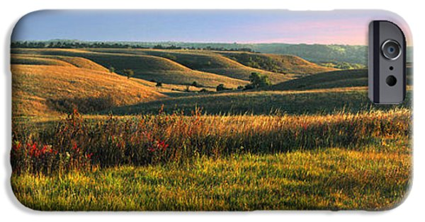 Sunset iPhone Cases - Flint Hills Shadow Dance iPhone Case by Rod Seel