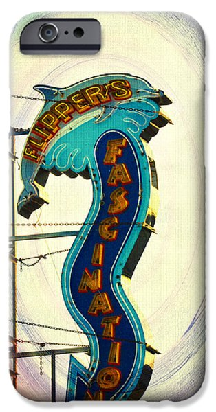 Porpoise iPhone Cases - Flippers Facination - Wildwood Boardwalk iPhone Case by Bill Cannon