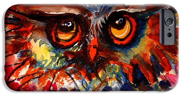 Young Paintings iPhone Cases - Flo  iPhone Case by Laurel Bahe