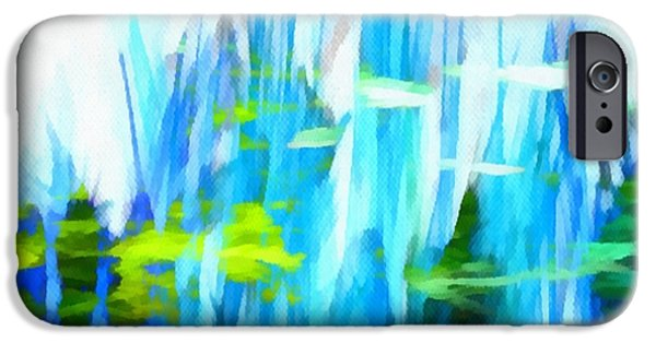 Abstract Digital Mixed Media iPhone Cases - Float 1 Horizontal iPhone Case by Angelina Vick