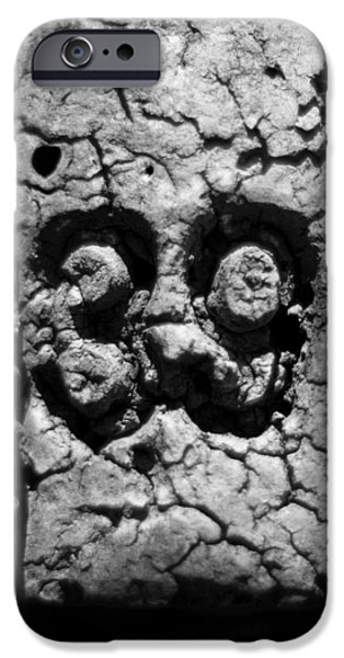 Crabbing iPhone Cases - Float Number 39 - Black and White iPhone Case by Rebecca Sherman