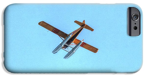Barnstormer Photographs iPhone Cases - Float Plane Fly Over Pacific Northwest iPhone Case by Tap  On Photo