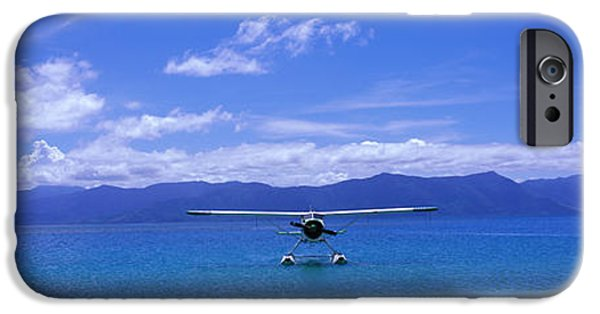 Waterway iPhone Cases - Float Plane Hope Island Great Barrier iPhone Case by Panoramic Images