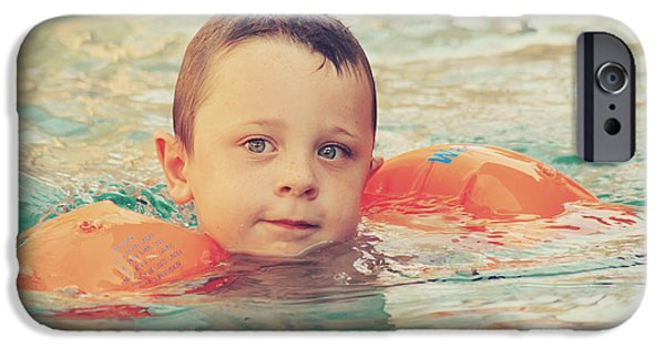 Little Boy iPhone Cases - Floaties iPhone Case by Laurie Search