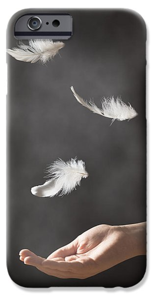 Floating Feathers iPhone Case by Amanda And Christopher Elwell