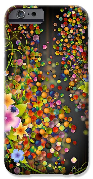 Purple Images iPhone Cases - Floating Fragrances - Black Version iPhone Case by Bedros Awak