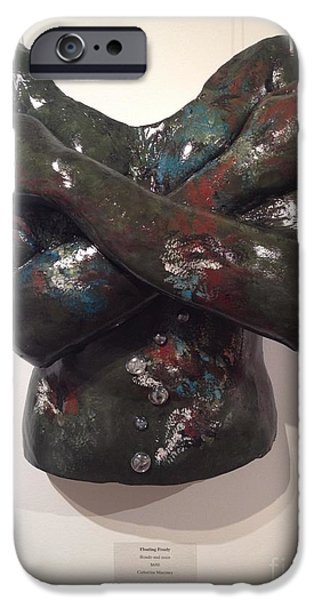 Alga Sculptures iPhone Cases - Floating Freely iPhone Case by Catherine Maroney