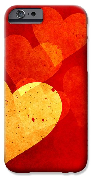 Floating Hearts iPhone Case by Kurt Van Wagner