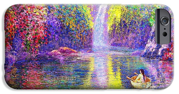 Contemplation iPhone Cases - Floating iPhone Case by Jane Small