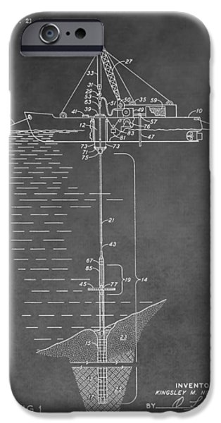 Sea Platform iPhone Cases - Floating Oil Platform Patent iPhone Case by Dan Sproul