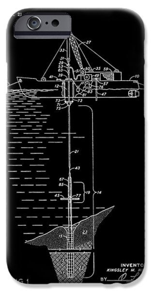 Sea Platform iPhone Cases - Floating Oil Rig Patent iPhone Case by Dan Sproul