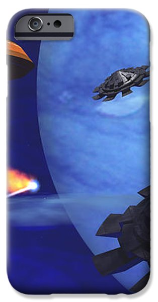 Floating Space City iPhone Case by Corey Ford