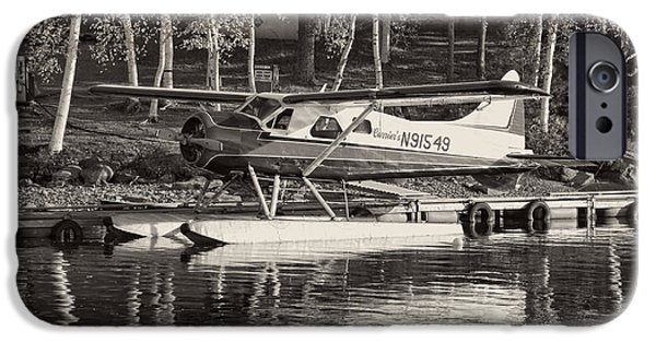 Airplanes Photographs iPhone Cases - Floatplane On Moosehead Lake In Maine iPhone Case by Keith Webber Jr
