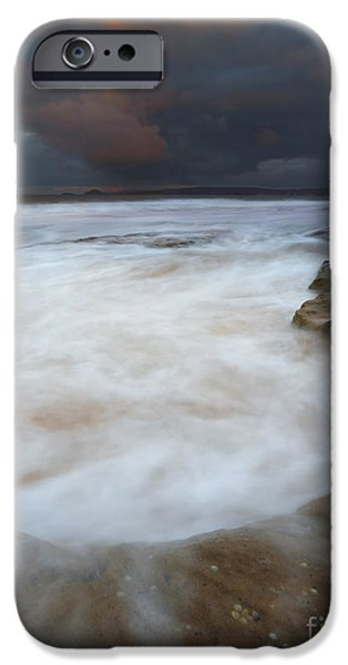 Knights Beach iPhone Cases - Flooded by the Tides iPhone Case by Mike Dawson