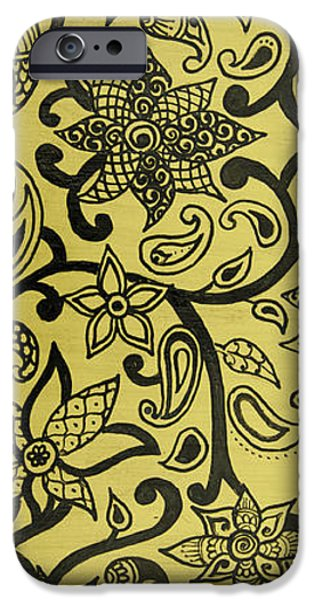 Flora Drawings iPhone Cases - Flora iPhone Case by Hema Narayanan