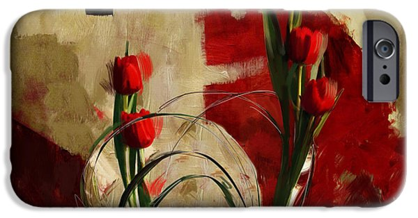 Corporate Art iPhone Cases - Floral 1 iPhone Case by Mahnoor Shah