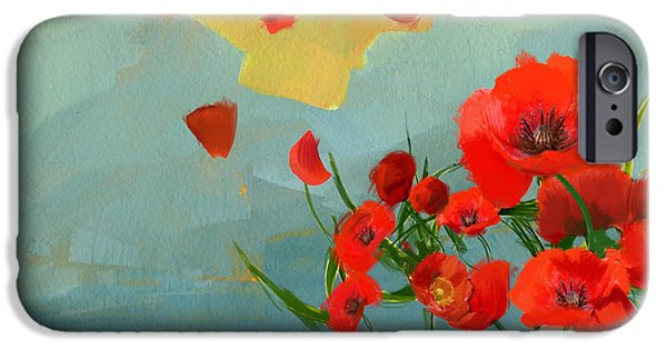Shed iPhone Cases - Floral 10 iPhone Case by Mahnoor Shah