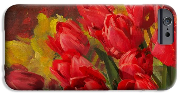 Flowers On Canvas Art iPhone Cases - Floral 12 iPhone Case by Mahnoor Shah